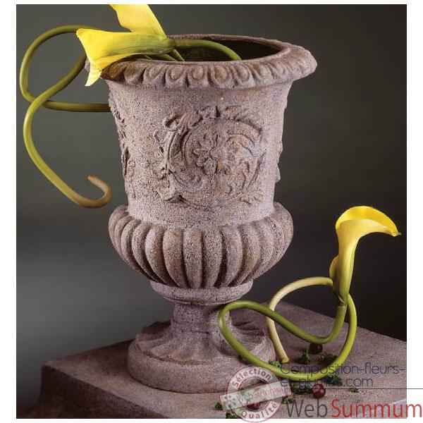 Video Vases-Modele Victorian Urn, surface rouille-bs2101rst