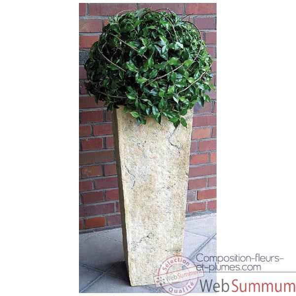 Vases-Modele Quarry Pedestal Planter, surface marbre vieilli-bs2133ww
