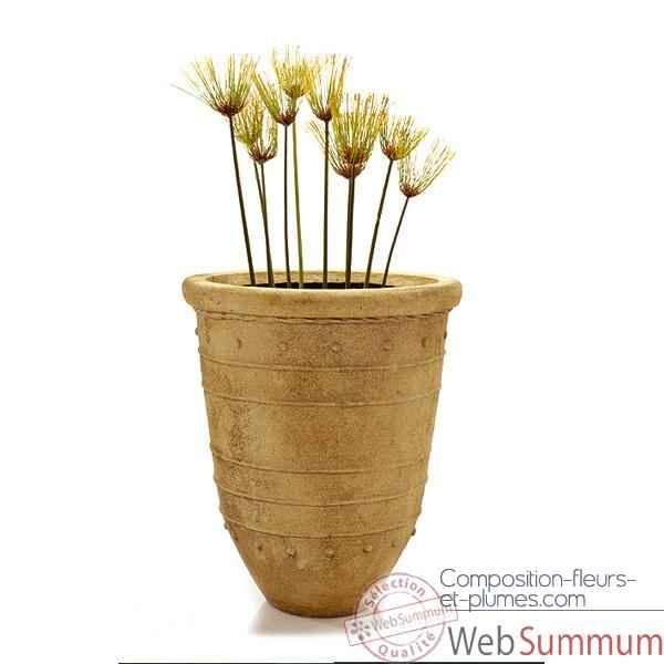 Video Vases-Modele Bali Tall Urn, surface marbre vieilli-bs2180ww