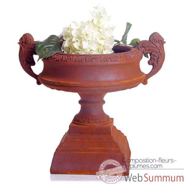 Vases-Modèle French Planter, surface rouille-bs3027rst