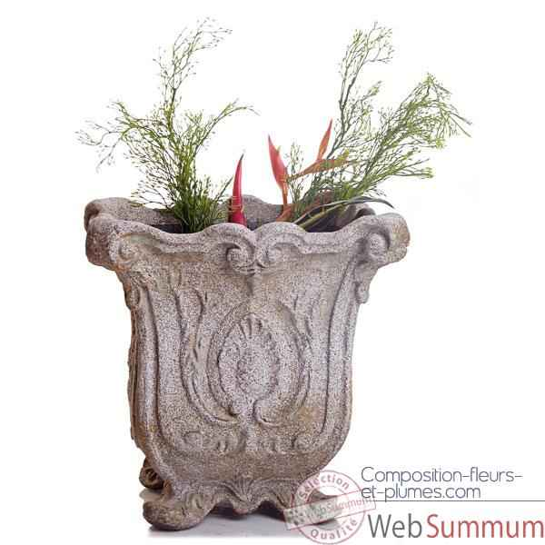 Vases-Modele Hereford Planter, surface rouille-bs3036rst