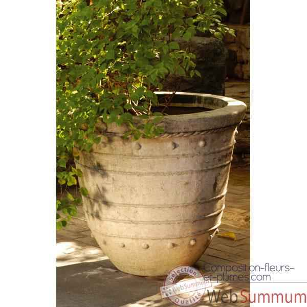Vases-Modele Bali Planter Giant,  surface granite-bs3043gry