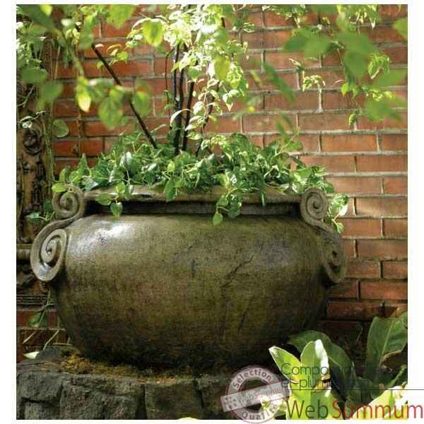 Vases-Modele Vigan Planter, surface marbre vieilli-bs3049ww