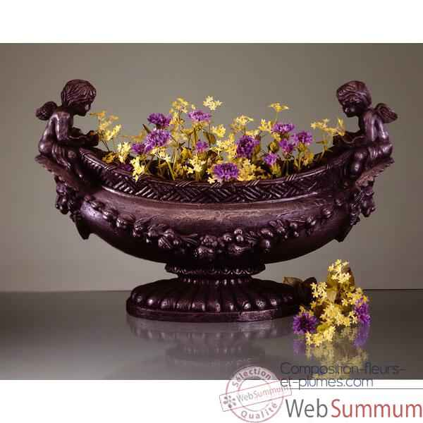 Vases-Modele Cherub Oval Bowl, surface pierre romaine-bs3063ros
