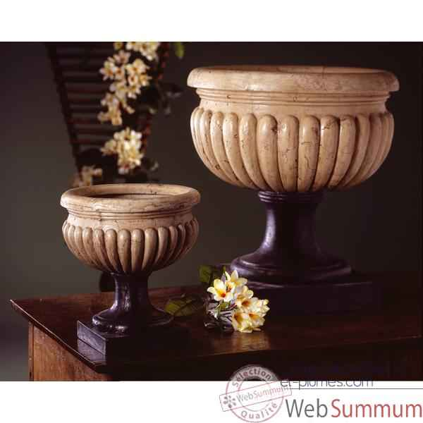Vases-Modele Bath Urn, surface pierres romaine combines au fer-bs3094ros/iro