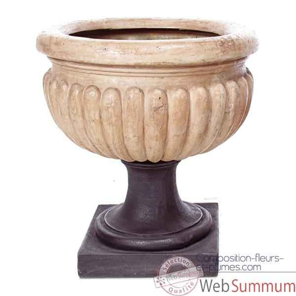 Vases-Modele Bath Urn, surface rouille-bs3094rst