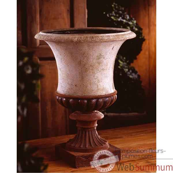 Vases-Modele Ascot Urn, surface rouille-bs3097rst