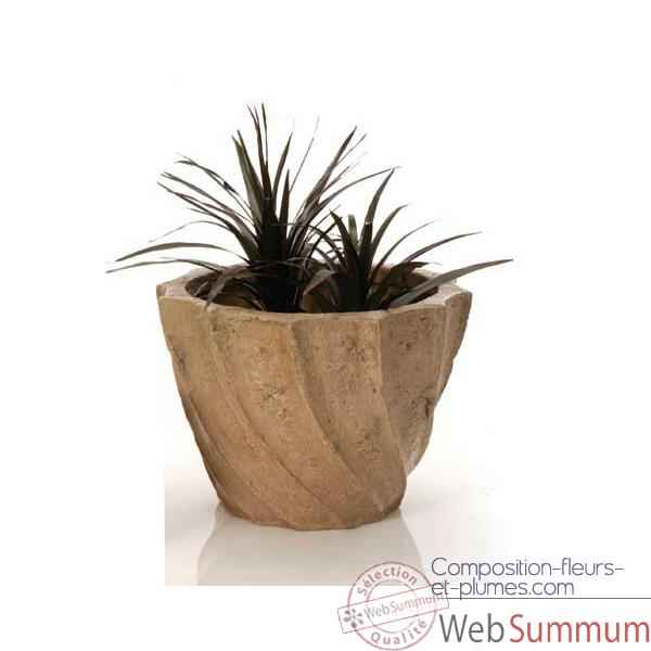 Vases-Modèle Aegean Planter - Large,  surface granite-bs3098gry