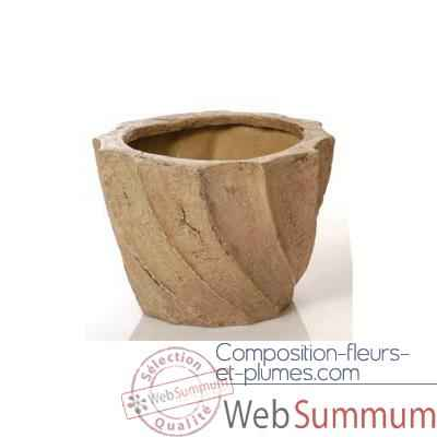 Vases-Modele Aegean Planter - Small, surface marbre vieilli-bs3099ww