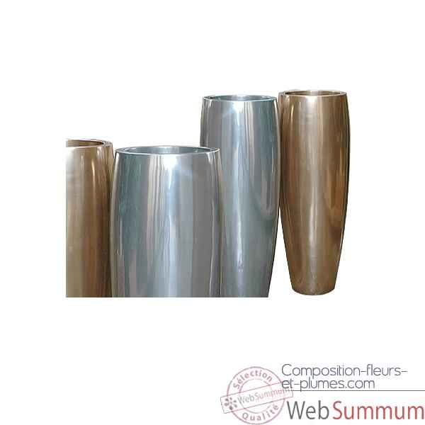 Video Vases-Modele Mati Planter, surface aluminium-bs3114alu
