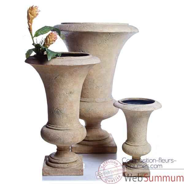 Vases-Modèle Empire Urn    medium, surface pierre romaine-bs3116ros