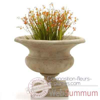 Video Vases-Modele Orbe Urn, surface marbre vieilli-bs3167ww