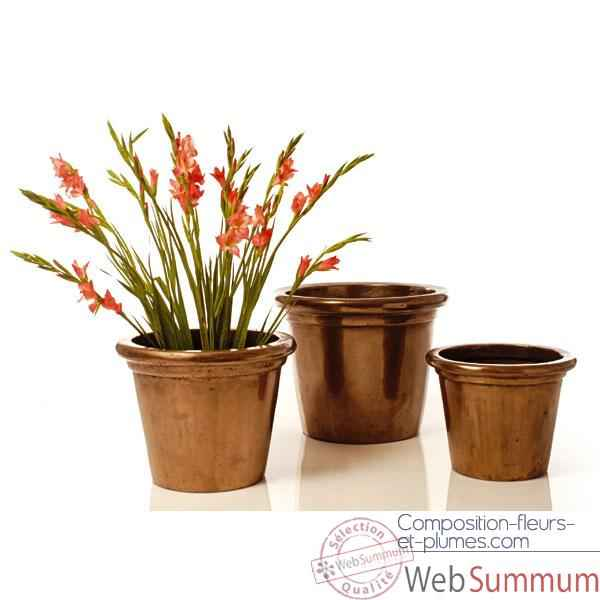 Vases-Modèle Grower Pot  Large, surface marbre vieilli-bs3174ww