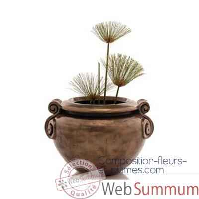 Vases-Modele Vigan Planter Junior, surface marbre vieilli-bs3213ww