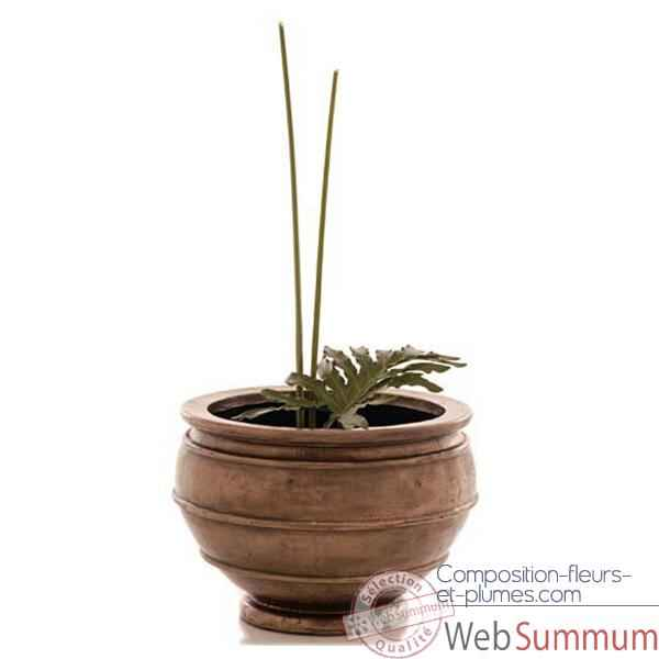 Vases-Modele Lipa Planter Junior,  surface granite-bs3214gry