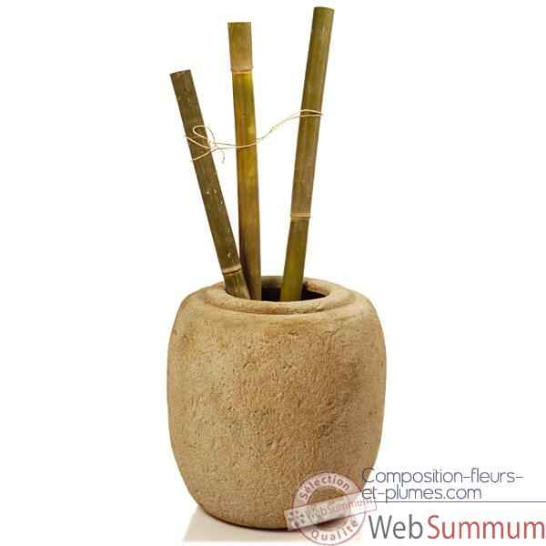 Vases-Modele Sagada Pot junior,  surface granite-bs3215gry