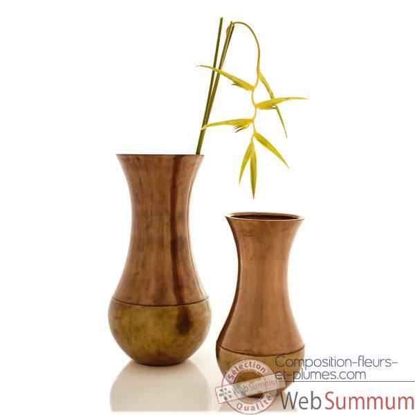 Vases-Modele Snap Jar, surface bronze nouveau-bs3219nb