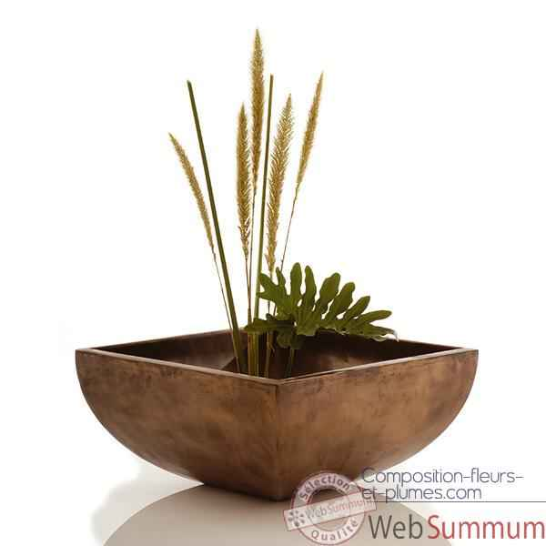 Vases-Modele Nara Bowl, surface bronze nouveau-bs3231nb