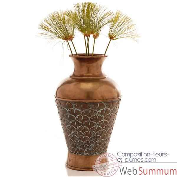 Video Vases-Modele Ginko Vase, surface bronze avec vert-de-gris-bs3263vb