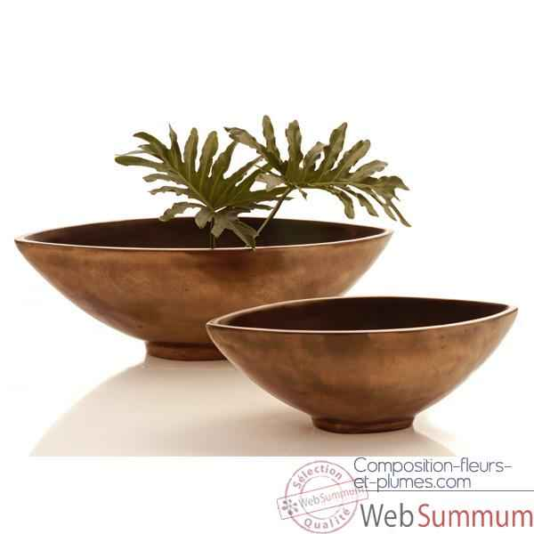 Video Vases-Modele Mata Bowl Large, surface bronze nouveau-bs3266nb