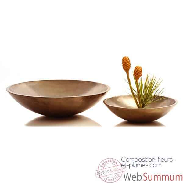Vases-Modele Kawa Bowl Junior, surface aluminium-bs3271alu
