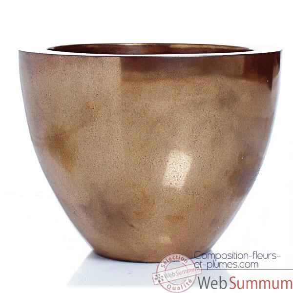 Video Vases-Modele Karan Bowl, surface aluminium-bs3309alu