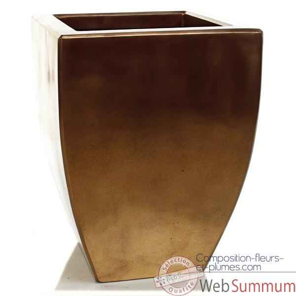 Vases-Modele Kobe Planter, surface bronze nouveau-bs3326nb