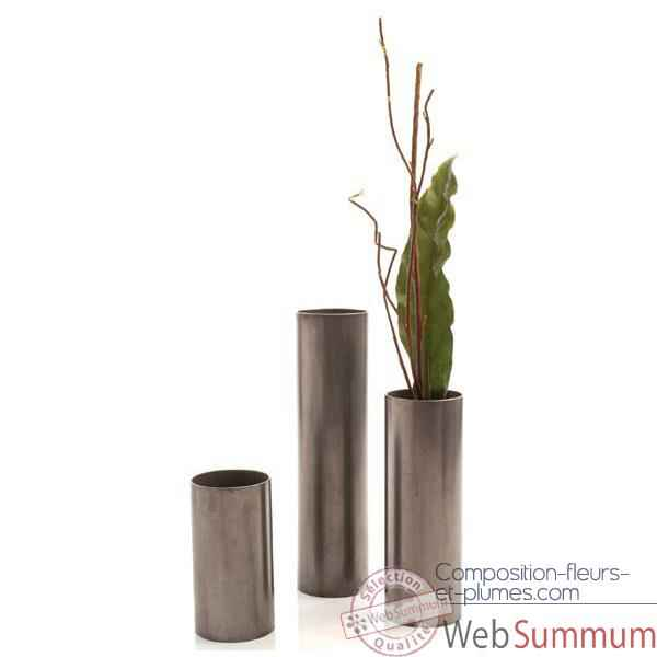 Video Vases-Modele Cylinder Vase Large, surface en fer-bs3343iro