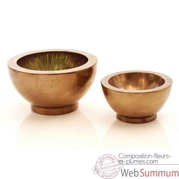 Vases-Modele Paso Bowl Small, surface bronze nouveau-bs3347nb
