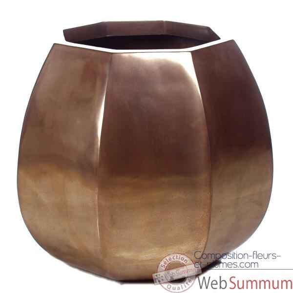 Vases-Modele Crocus Planter, surface bronze nouveau-bs3349nb
