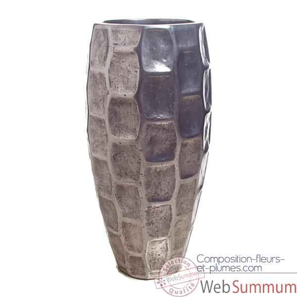 Video Vases-Modele Mando Vase, surface aluminium-bs3354alu