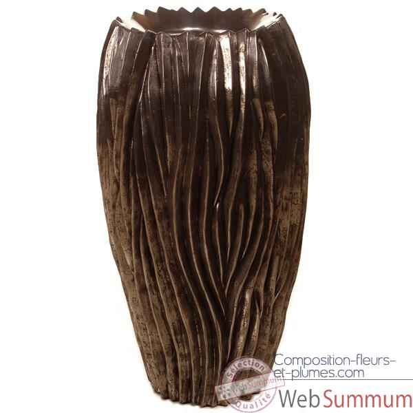 Video Vases-Modele Alon Vase, surface pierre noire-bs3414lava
