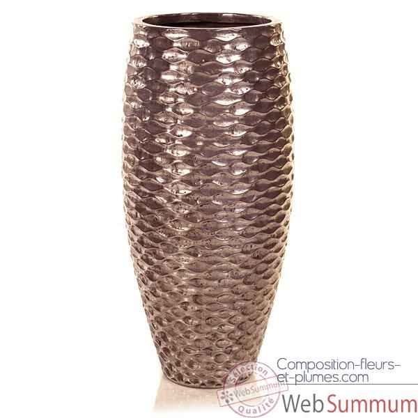Video Vases-Modele Flamenco Vase, surface aluminium-bs3433alu