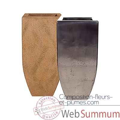 Vases-Modele Kobe Planter Large,  surface granite-bs3434gry