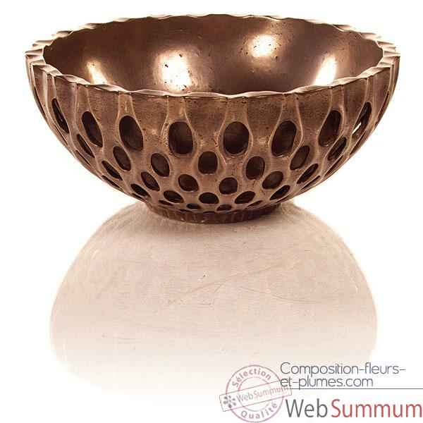 Vases-Modele Coral Bowl, surface bronze nouveau-bs3439nb/brown
