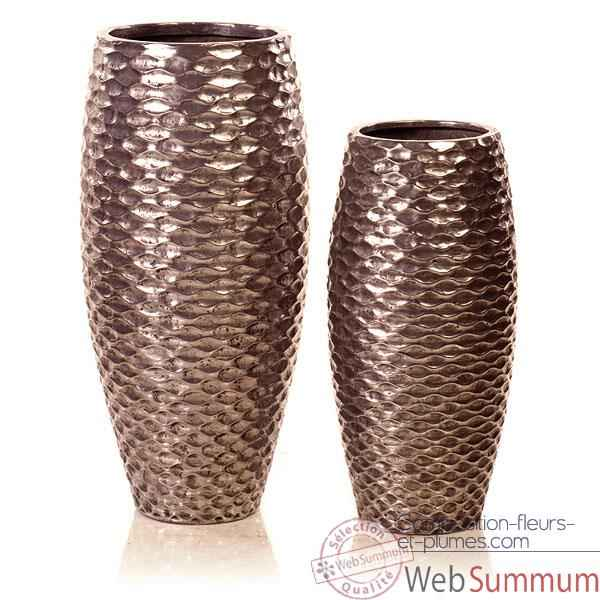 Vases-Modele Flamenco Vase Small, surface aluminium-bs3440alu