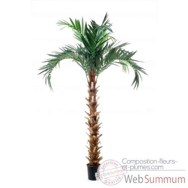Arbre artificiel sur composition fleurs et plumes for Arbre palmier artificiel