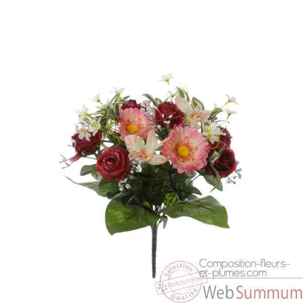 Piquet gerbera - rose - orchidee Louis Maes -22052.450