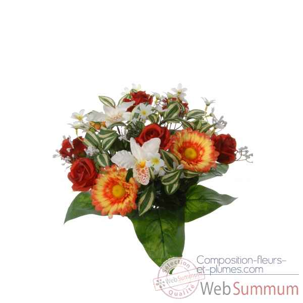 Piquet gerbera - rose - orchidee Louis Maes -22052.502