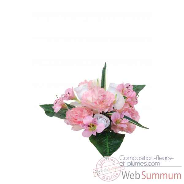 Pivoine -bouton de rose -anthurium bouquet Louis Maes -05234.425
