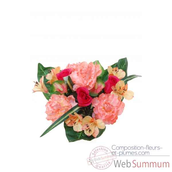 Pivoine-bouton de rose -anthurium bouquet Louis Maes -05234.502
