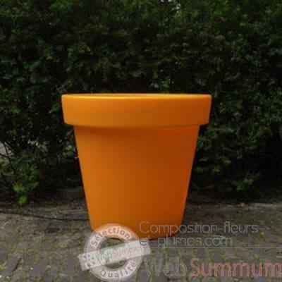 pot fleur 40 cm orange de bloom dans rond sur composition. Black Bedroom Furniture Sets. Home Design Ideas
